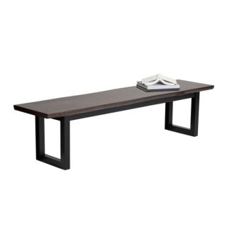 Sunpan Dixon Rustic inspired Solid Acacia Wood Dining Table with Metal