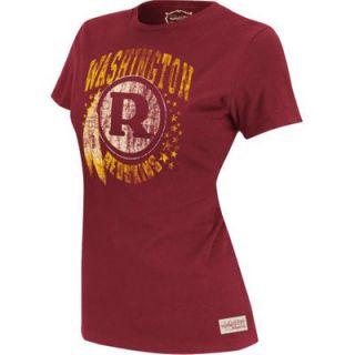 Mitchell & Ness Washington Redskins Womens Juniors Vintage Graphic Premium T Shirt   Burgundy