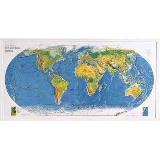 American Educational 434 World Geo Physical Map