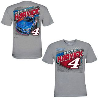 Kevin Harvick Chase Authentics Folds of Honor T Shirt   Heather Gray