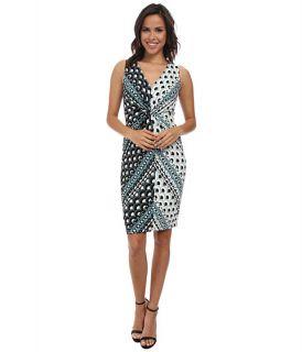 Donna Morgan Sleeveless Knot Front Jersey Shift Dress, Clothing
