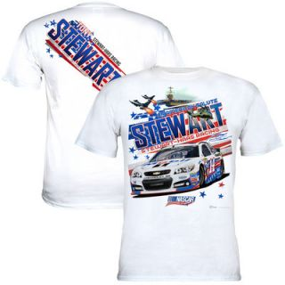 Tony Stewart Chase Authentics 2015 An American Salute T Shirt   White