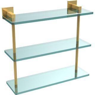 Allied Brass MT 5 16 PB Montero Polished Brass  Vanity & Glass Shelving Bathroom Accessories
