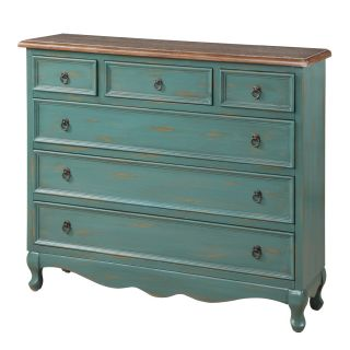 Gails Accents 40 105CH Cottage Teal Narrow Chest