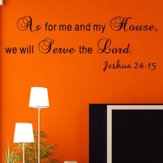 We Will Serve The Lord  Joshua 24:15 Wall Decal by Pop Decors