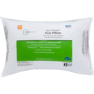 Mainstays Firm 100 Percent Polyester Pillow in Multiple Sizes
