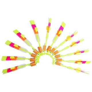 LED Light Arrow Rocket Helicopter Flying Party Toy 12 Pack   18641091