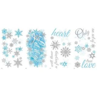 RoomMates 5 in. x 11.5 in. Frozen Let it Go 26 Piece Peel and Stick Wall Decal RMK2740SCS