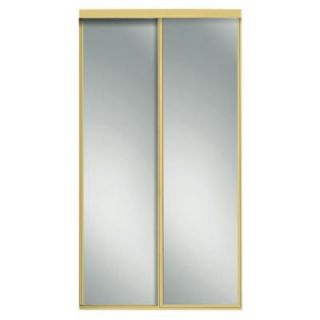 Contractors Wardrobe 48 in. x 96 in. Concord Mirrored Bright Gold Aluminum Interior Sliding Door CON 4896BGN2X