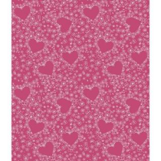York Wallcoverings 56 sq. ft. Hearts Wallpaper DK6010