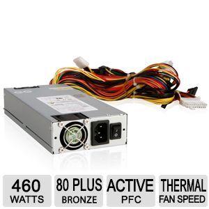 iStarUSA XEAL TC 1U46PD8   Power supply ( internal )   EPS12V   80 PLUS Bronze   AC 115/230 V   460 Watt   active PFC   (TC 1U46PD8)
