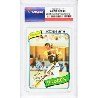 Ozzie Smith San Diego Padres  Authentic Autographed 1980 Topps #393 Card