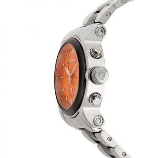 Croton Swiss Movement Orange Dial Stainless Steel and Ceramic Bracelet Chronogr   8179202