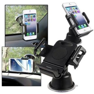 Insten 2pcs Car Mount Phone Holder Universal For iPhone 7 6s 6 Plus SE 5s / Samsung Galaxy Note 5 4 S7 S6 Edge On5 J7 J5 J3 J1 / ZTE Obsidian ZMax Maven / Motorola Moto G4 Plus E G X/ LG K7 GPS Device