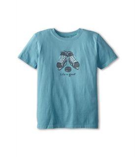 Life Is Good Kids Hockey Skates Easy Tee Little Kid Big Kid Turquoise Blue, Blue
