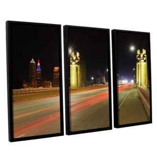 ArtWall Cody Yorks Cleveland 7 3 Piece Floater Framed Canvas Set