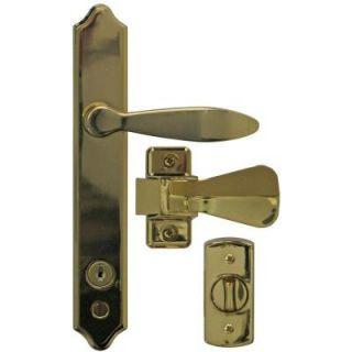 IDEAL Security Deluxe E Coat Storm Door Handle Set with Deadbolt SK1215BB