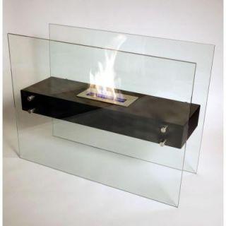 Nu Flame La Strada 31.5 in. Freestanding Decorative Bio Ethanol Fireplace in Matte Black NF F3LAA