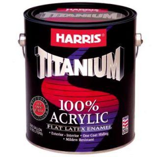 Harris Titanium 1 gal. Flat Acrylic Latex Interior/Exterior Enamel 20403