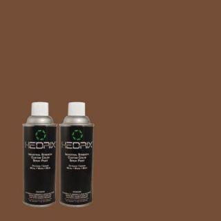 Hedrix 11 oz. Match of S G 760 Chocolate Coco Gloss Custom Spray Paint (2 Pack) G02 S G 760