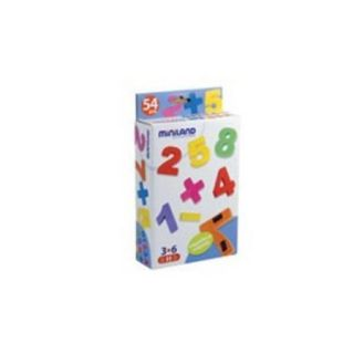 Miniland Educational 97927 Magnetic numbers: 54 pieces / box