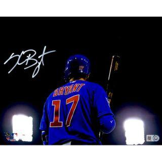 Kris Bryant Chicago Cubs  Authentic Autographed 8 x 10 Back Shot Photograph