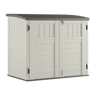 Suncast Vanilla Resin Outdoor Storage Shed (Common: 53 in x 32.25 in; Interior Dimensions: 49 in x 28.25 in)