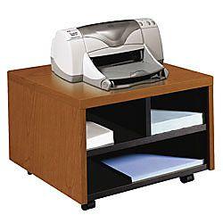 HON Laminate Mobile PrinterFax Cart 14 H x 20 W x 19 78 D Harvest