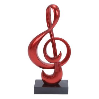 Woodland Imports Foil Music Note Sculpture