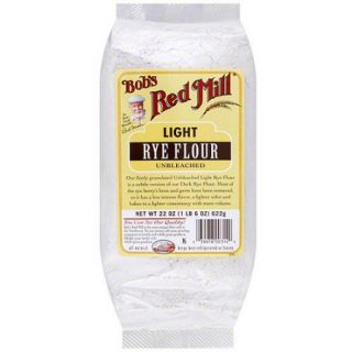 Bob's Red Mill Light Unbleached Rye Flour, 22 oz (Pack of 4)