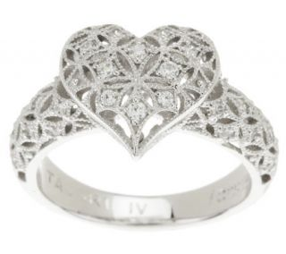 Tacori IV Diamonique Epiphany Harlequin Heart Ring —