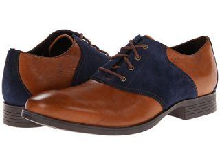 Cole Haan Copley Saddle Oxford British Tan Blazer Blue