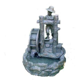 Summer Day Resin 18.75 in. L x 20 in. W x 25.50 in. H Fountain with Pump DISCONTINUED 7182410