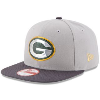 Green Bay Packers New Era Gold Collection Original Fit 9FIFTY Snapback Adjustable Hat   Gray/Graphite