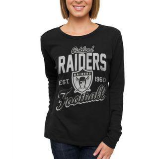 Oakland Raiders Womens Team Spirit Thermal Long Sleeve T Shirt   Black