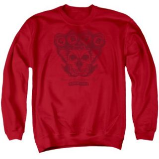 CBGB/MOTH SKULL   ADULT CREW SWEAT   RED   XL   Red   XL