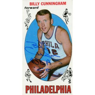 Billy Cunningham Philadelphia 76ers  Authentic Autographed 1969 70 Topps Rookie #40 Card with NBA 50 Inscription