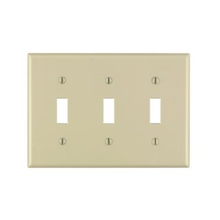 Leviton 3 Gang Ivory Toggle Switch Wall Plate (86011 000)   Standard Wall Plates