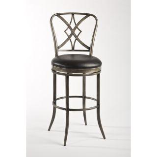 Hillsdale Furniture 5124 830 Jacqueline Swivel Bar Stool in Pewter Rub Black