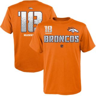 No. 18 Peyton Manning Denver Broncos Youth Orange Co Vert Ops Name & Number Short Sleeve T Shirt