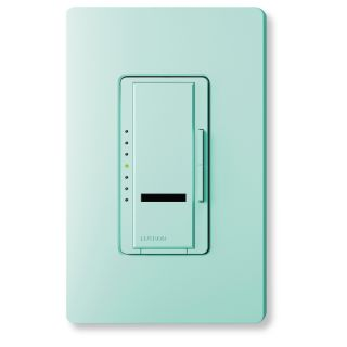 Lutron Maestro IR 1 Switch 450 Watt Single Pole Wireless Sea Glass Remote Dimmer