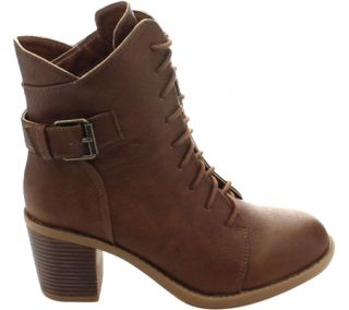 Womens Wild Diva Essence 50 Ankle Boot   Brown Faux Leather
