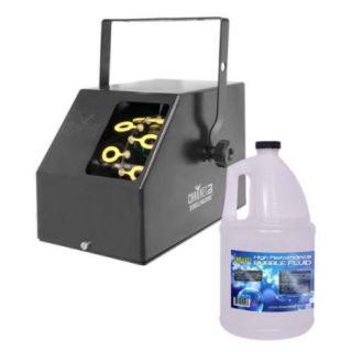 CHAUVET B 250 Portable Pro DJ Effect Bubble Machine + 1 Gallon BJU Bubble Fluid