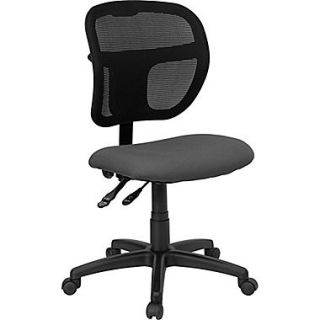 Flash Furniture WL A7671SYG GY GG Fabric Mid Back Armless Task Chair, Black/Gray