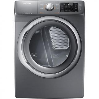 Samsung 7.5 cu. ft. Front Load Electric Dryer with Steam Drying and Smart Care Technology   Platinum   7431989