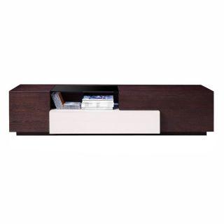 J&M Furniture 178731 TV Stand in Brown Oak Grey Gloss