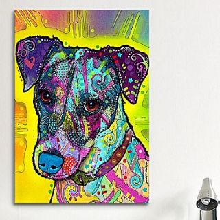 iCanvas Jack Russell by Dean Russo Painting Print on Canvas; 60 H x 40 W x 1.5 D