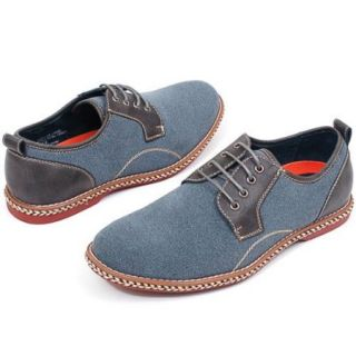 Mens Faux Suede Casual or Dress Lace Up Shoes Leather Lined Rope Boat Oxfords NW Gray Size 10
