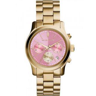 Michael Kors Womens MK6161 Runway Round Goldtone Bracelet Watch