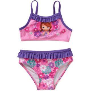 Disney Sofia the First Princess Toddler Girl Bikini Swimsuit